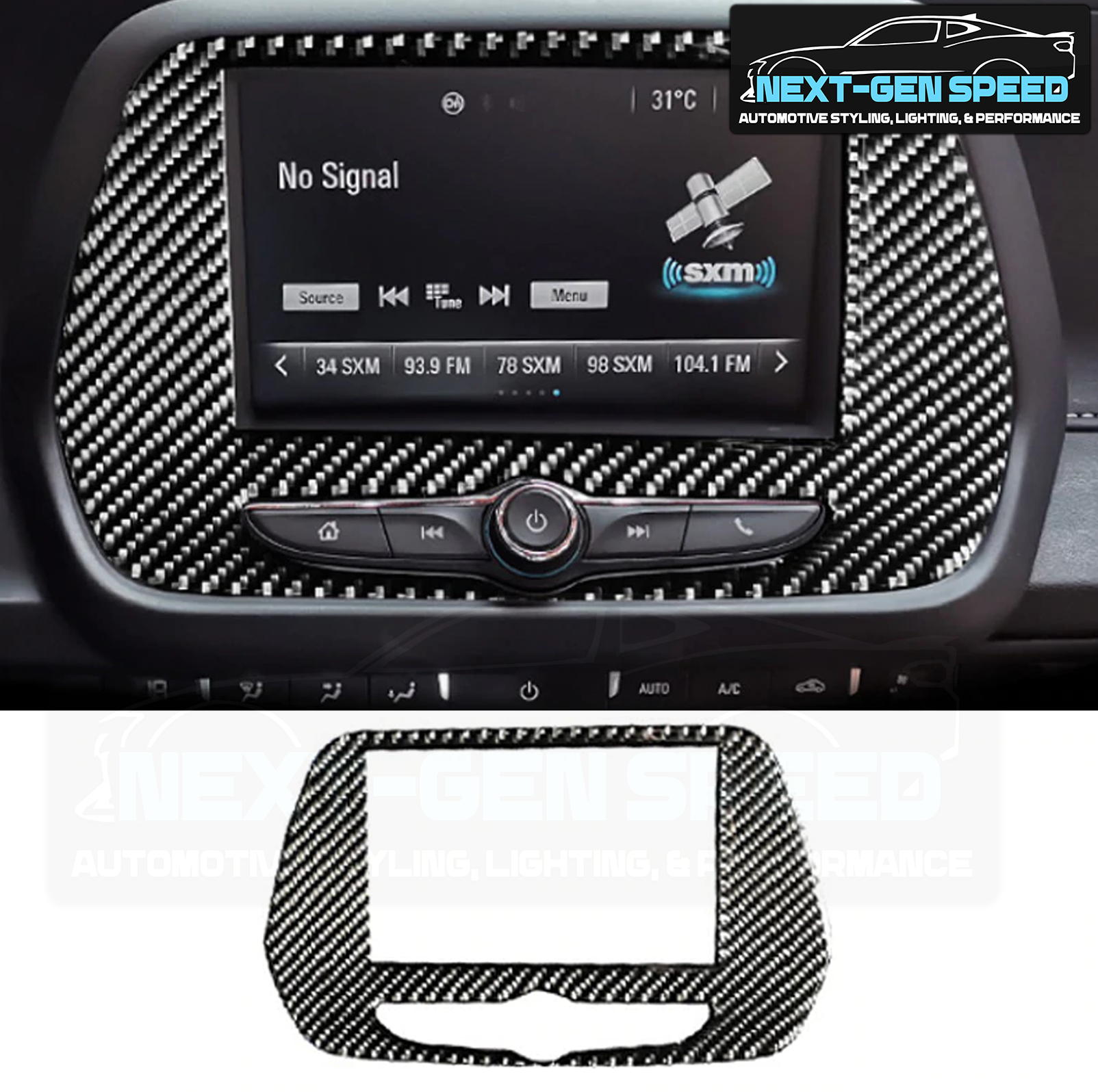 Next-Gen Speed Carbon Fiber Push Button Start Trim Cover for Camaro 2016 2017 2018 2019 2020 Glossy Carbon Cover Transformers Logo